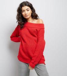 red-ribbed-bardot-off-the-shoulder-jumper