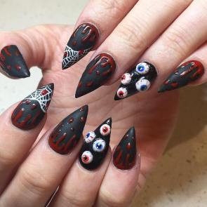 black-and-red-halloween-nail-art-bmodish