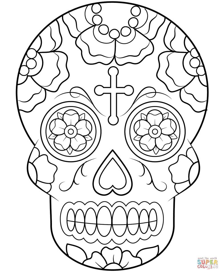 calavera-sugar-skull-coloring-page