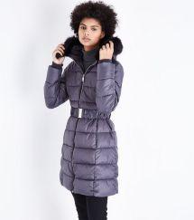 dark-grey-pink-belted-longline-puffer-jacket