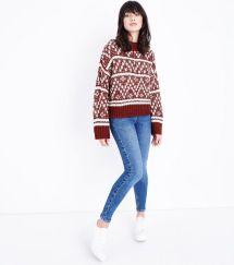 rust-fairisle-knit-jumper